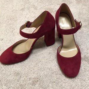 Merlot Suede Michael Kors Shoes